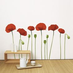 Poppy Wall Decal for wizard of oz party?