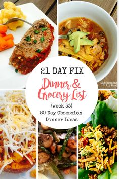 This 80 Day Obsession Meal Plan & Grocery has meals for the Yellow, Green, Red and tsp container combination, but can easily be adapted to add additional containers as needed! And if you are following the 21 Day Fix, you can still eat these delicious meals as part of your plan, too! Hey everyone! I...
