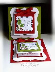 Me, My Stamps and I: Fa La la Christmas- Peekaboo Tags