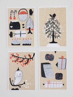 Kanelimaa Christmas cards.    #Christmaws #Cards #Graphic