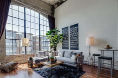 San Francisco - recycled industrial loft, love the windows