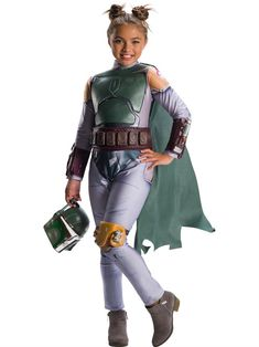 This Star Wars Classic Girls Boba Fett Costume Includes A Jumpsuit With Attached Cape Attached Molded Pieces Belt and Mask Size: M. Star Wars Girls' Classic Boba Fett Halloween Costume - M Boba Fett Halloween, Boba Fett Costume, Star Wars Halloween Costumes, Childrens Halloween Costumes, Jedi Costume, Costumes For Teens, Girl Costumes, Halloween Kids, Costume Ideas