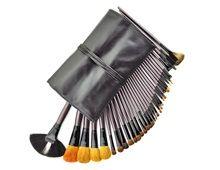Profesjonell Kosmetisk Makeup Brush Set Tretti - fire stykke (svart)