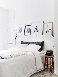 decoração simples para quarto - prateleira
