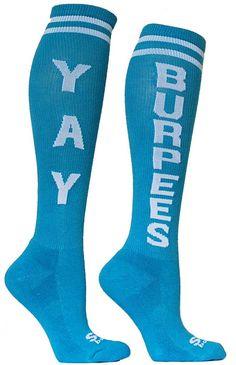 CrossFit socks! @Tanya Knyazeva Knyazeva Knyazeva MacKenzie  you need these lol