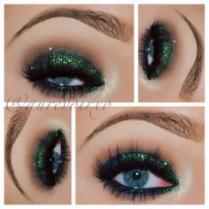 .@aurevoirxo | Just eyes  Glitter is Mad Melon from @eyekandycosmetics Lashes are from @M...