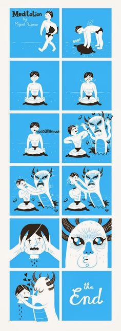 Meditation Comic by Miguel Palomar
