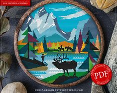 Grand Teton National Park Cross Stitch Design for Instant Download *P459 | Lovely Cross Stitch| Room Decor| Needlecraft Pattern