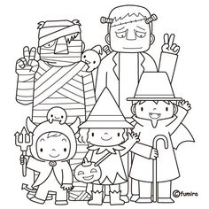Kawaii Halloween Coloring Pages Awesome Mejores 43 Kawaii Halloween, Diy Halloween Party, Moldes Halloween, Halloween Infantil, Manualidades Halloween, Halloween Crafts For Kids, Halloween Activities, Halloween Art, Holidays Halloween