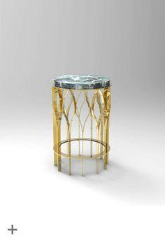 MECCA side table, marble, brass, @BRABBU