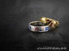 Beautiful C-3PO And R2-D2 Star Wars Wedding Bands