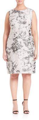Lafayette 148 New York, Plus Size Evelyn Botanical Splash Jacquard Dress $478.80