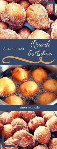 Quarkbällchen - ganz einfaches Rezept - im Thermomix selber machen *** German donuts easy & delicous