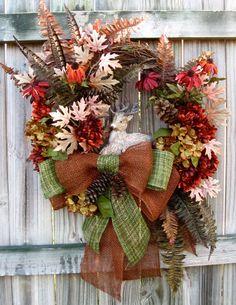 Rustic Woodland Forrest Friend Fall Wreath by IrishGirlsWreaths, $129.99 *SOLD!*