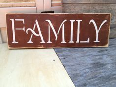 Distressed Brown and Ivory Family Sign by SassySouthernCharm, $18.00
