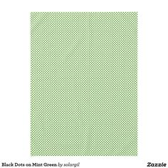 Black Dots on Mint Green Tablecloth