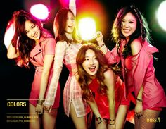 miss A have fun together in pink group teaser images for 'Colors' + opens fan cafe | allkpop.com