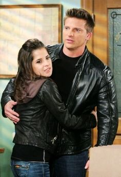 Kelly Monaco && Steve Burton<3... He is the main reason I watched GH!!! Sad he is gone! I think sonny and Jason made GH!