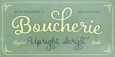 Boucherie - 19th-century French advertising typography