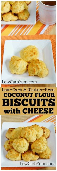 If you miss the warmth of freshly baked bread, these coconut flour biscuits are sure to please. They are full of cheese with a touch of garlic. | lowcarbyum.com