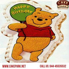 Take a look at the coolest Winnie the Pooh picture cakes. You'll also find the most amazing photo gallery of  #birthday #cakes available at #Cake #park.  Order cakes #online #Chennai and #Bangalore  Call us: 044-45535532