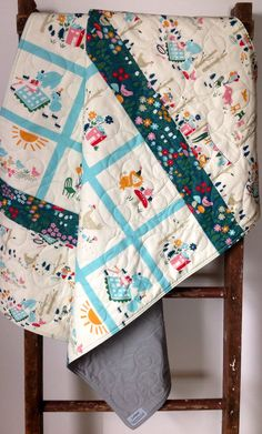 Baby Quilt, Organic, Gender Neutral, Rustic, Vintage, Woodland, Birch Fabric, Everyday Party, Baby Bedding, Crib Bedding, Baby Blanket