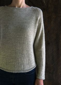 Lightweight Raglan Pullover Free Knitting Pattern from Purl Soho Beginner Knitting Patterns, Sweater Knitting Patterns, Knit Patterns, Free Knitting, Knitting Projects, Baby Knitting, Raglan Pullover, Purl Soho, How To Purl Knit