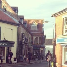 Holt, Norfolk. A lovely little town, full of interesting shops and cafes.