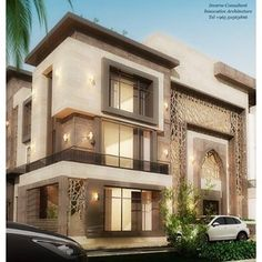 Classic House Design, Simple House Design, Bungalow House Design, House Front Design, Modern House Design, Mosque Architecture, Modern Architecture House, Residential Architecture, Small Villa
