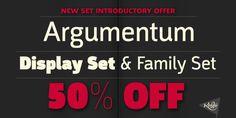 Argumentum (50% discount, from $50.00) - http://fontsdiscounts.com/argumentum-50-discount-50-00/