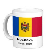 Moldova* Coffee Mug. Moldova was born after the breakup of the USSR. The mug includes the Moldovan flag and the founding date of the country.
