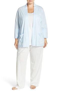 Carole Hochman Designs Cotton 3-Piece Pajama Set (Plus Size) available at #Nordstrom