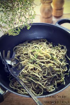 Makaron z tuńczykiem Japchae, Tofu, Spaghetti, Ethnic Recipes, Noodle