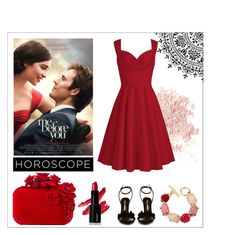 """me before you"" by m-huber ❤ liked on Polyvore featuring Sophia Webster, Jimmy Choo, Bare Escentuals, Oscar de la Renta, fashionhoroscope and stylehoroscope"
