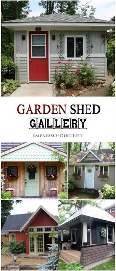 Shed DIY - Want to build a shed? Have a look at this gallery of garden sheds ideas to find the right style for your backyard. Now You Can Build ANY Shed In A Weekend Even If You've Zero Woodworking Experience! Build A Shed Kit, Build Your Own Shed, Shed Building Plans, Shed Kits, Diy Shed Plans, Building Building, Cabin Plans, Building Design, Shed Landscaping
