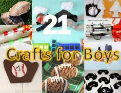 21 Crafts for Boys is a great collection of crafts for boys from age 2 to age 15. Superheroes, sports, and rockets are just the beginning..