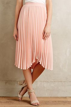 Scalloped Pleats Midi Skirt #anthropologie