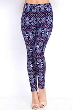 Make a bold boho statement in these to-the-ankle leggings that are sure to spice up tunics and dresses. Whether you're out with friends or hanging out, the peach-skin stretch fabric will have you feeling comfy. Basic Leggings, Ankle Length Leggings, Stretch Fabric, Comfy, Boutique, Boho, Pants, Tunics, Dresses