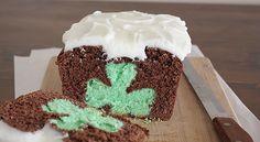 Shamrock Reveal Mint-Chocolate Pound Cake