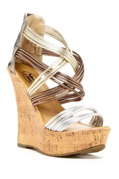 Caged Strappy Wedge Sandal by Carrini on @nordstrom_rack