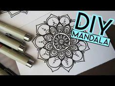 Mandala Painted Stone by MagaMerlina - Mandala Painted Pebble. - YouTube