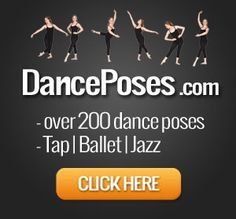 Ballet, Jazz, Tap, Lyrical, & Pointe Dance poses for pictures.