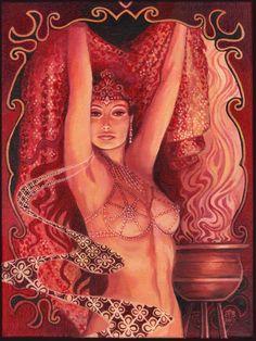 Hathor's Song  Egyptian Goddess of Love Beauty and door EmilyBalivet, $320.00