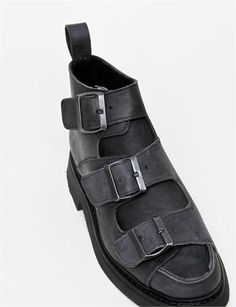 Rosa Mosa 3 Buckled Ankle Boot Nero