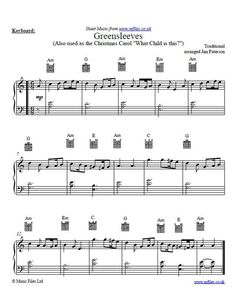 Greensleeves is an old folk melody (though not written by Henry VIII as a popular rumour states). It pleasant stately rhythm makes it suitable for…