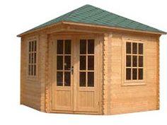 Corner shed