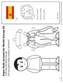 Kids color and cut out a native costume for this paper doll, then guess what country the doll is from. Hint: The capital city is Madrid.