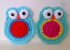 Tecendo Artes em Crochet: Uma Revoada de Corujinhas para Colorir nosso Fim de Semana!