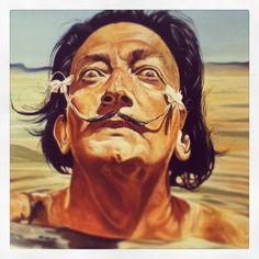 Salvador Dali Clock Painting, Figure Painting, Dali Artwork, Salvador Dali Paintings, Dali Tattoo, Spanish Artists, Caricatures, Sculpture Art, Art History