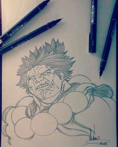 Desenho finalizado AKUMA STREET FIGHTER
